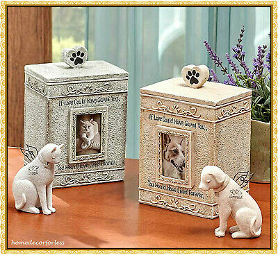 Angel Dog Cat Pet Memorial Statue Figurine or Cremation Urn Cemetery Grave Stone](Angel Dog)