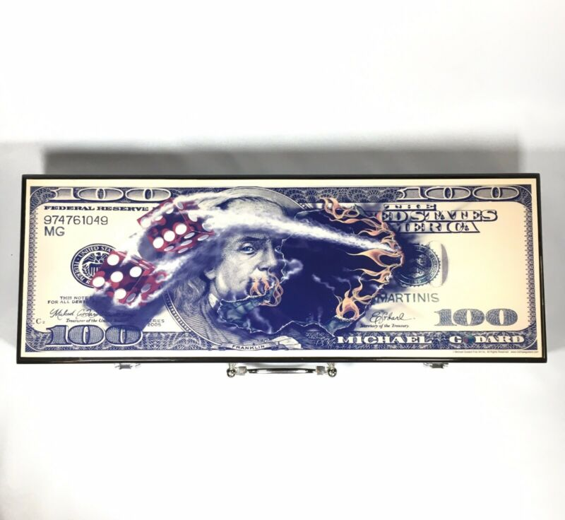 Michael Godard Poker Chips Card Set - $100 Bill and Dice - Limited Edition 5/500