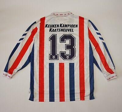 Vintage Willem II 1993 1994 Home MATCH WORN Football Soccer Shirt Jersey Hummel image
