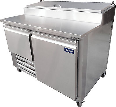 New Coolman 1-1/2 Door Refrigerated Pizza Prep Table S .S TOP  60""