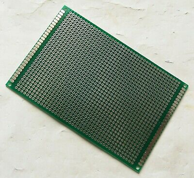 1pc Double Sided Fr-4 Pcb Prototyping Perf Board Breadboard Diy 8x12cm 80x120mm