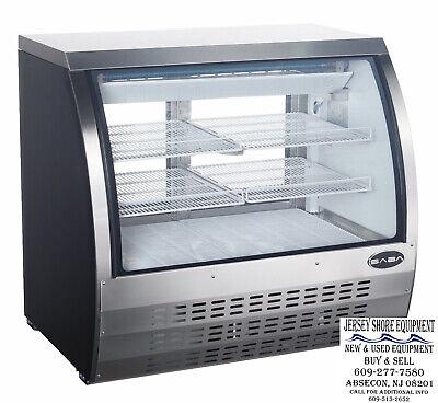 Saba 47 Display Case Commercial Deli Pastry Meat Case Refrigerator Display