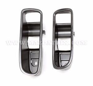 1993 95 mazda rx 7 aluminum black door handle cup trim left and