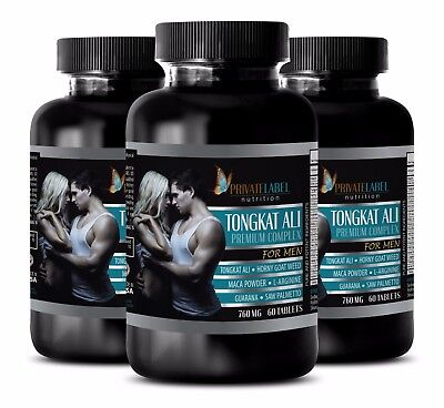 Muscle Growth Pills   Tongkat Ali Premium Complex  3B   Horny Goat Weed Extract