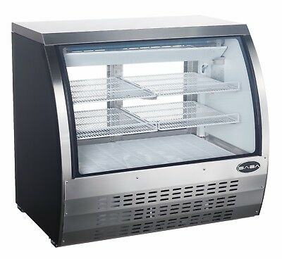 Saba 47 Commercial Deli Casedisplay Case Refrigerator With Curved Glass