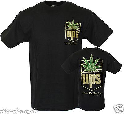 United Pot Smokers Ups Weed 420 Kush Marijuana Cannabis Dope Mens Funny T Shirt