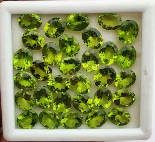 21 CT Natural Peridot Oval Cut Loose Gemstone Lot 8 Pcs 8*10 MM