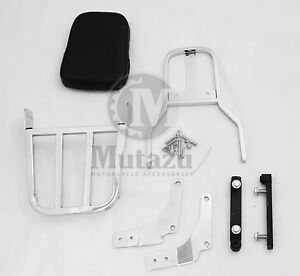 Sissy-Bar-Passenger-Backrest-amp-Luggage-Rack-for-1997-2007-Suzuki-VZ800-Marauder