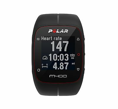 Polar M400 GPS Smart Sports Watch Black With Heart Rate Monitor