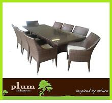 Wicker Outdoor Furniture set 9 Pce Rattan dining Table & Chairs Bayswater Knox Area Preview