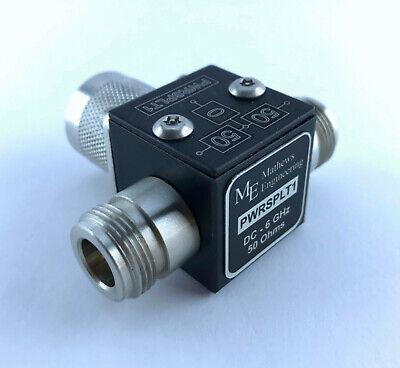6 Db Power Splitter 2 Way 50 Ohm Nm Nf Dc-6 Ghz New Pwrsplt1
