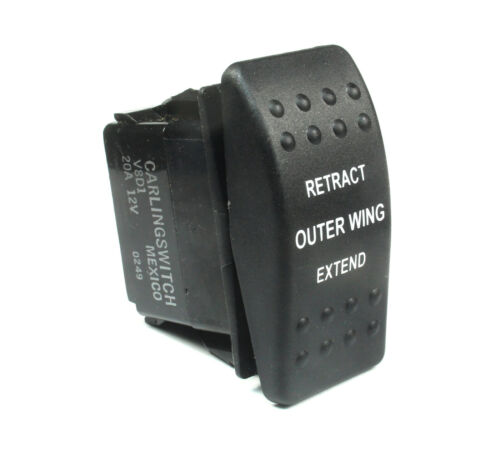 Carling Momentary Rocker Switch SPDT 20A 12VDC (ON) OFF (ON)  Outer Ring Extend