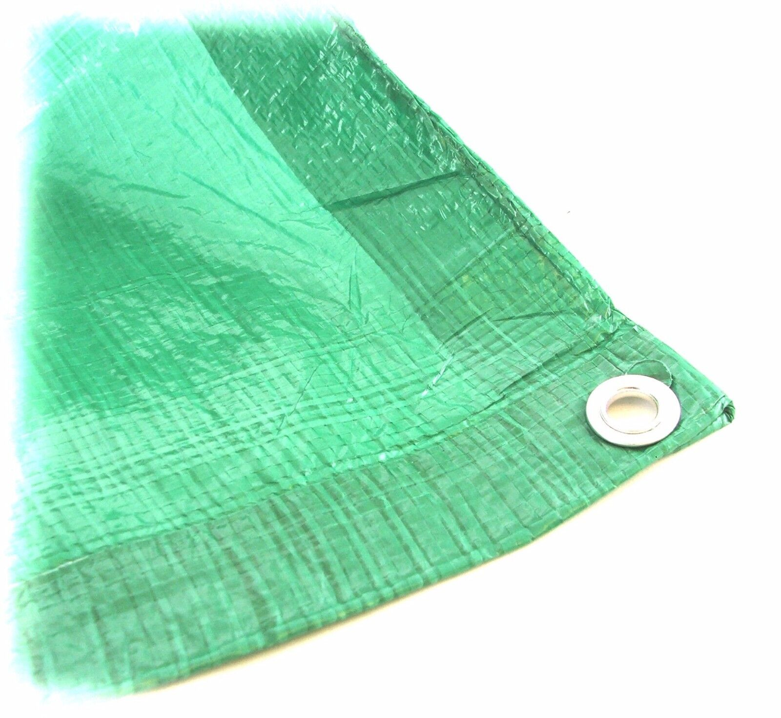 Strong 2.7m x 3.5m Green Waterproof Polyethylene Woven Tarpaulin ground sheet