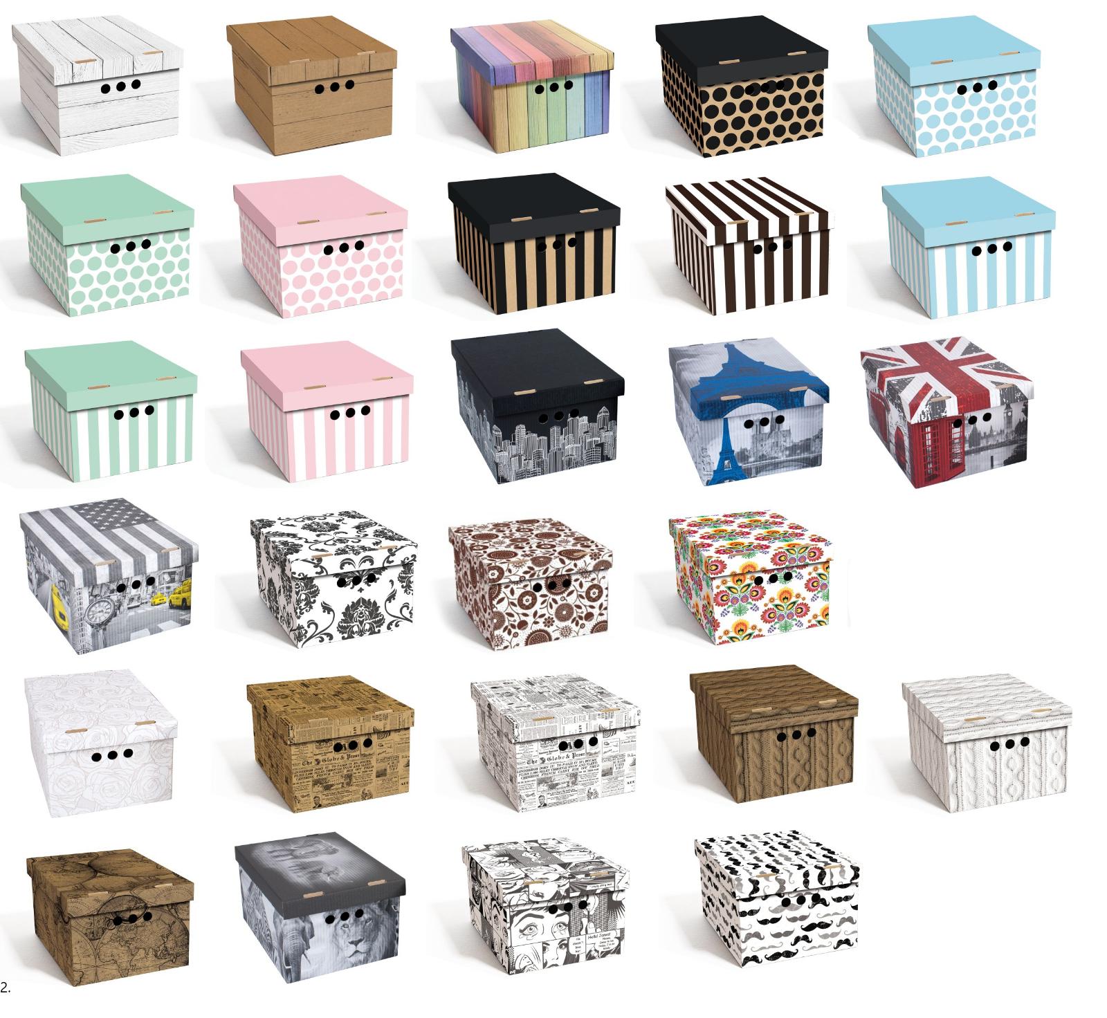 Aufbewahrungsbox mit Deckel  Box Kiste Schachtel aus Karton