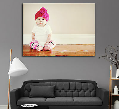 "Personalised LARGE A1 30"" x 20"" Your Picture Photo Print on Canvas, High Quality"