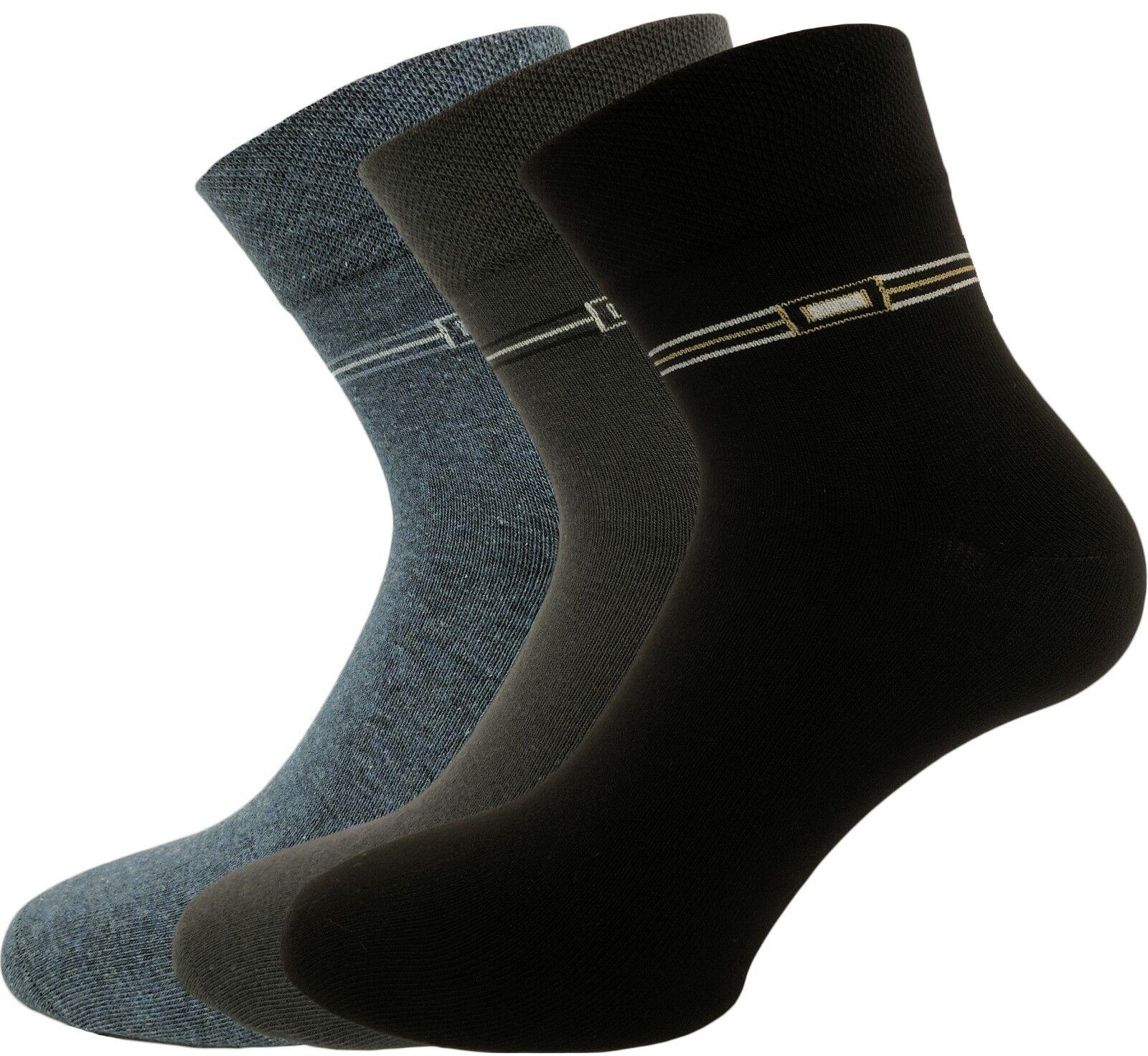 Herren Socken mit halben Schaft - Kurzsocken - 6er Pack ohne Gummi Handgekettelt