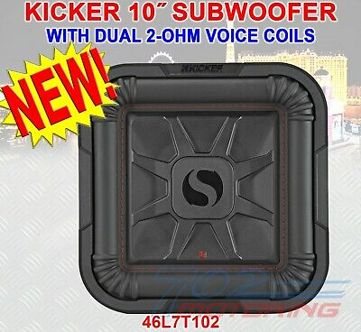 "KICKER SOLO-BARIC L7T 1000W 10"" 2 Ohm DVC SEALED OR PORTED SQUARE SUBWOOFER NEW!"