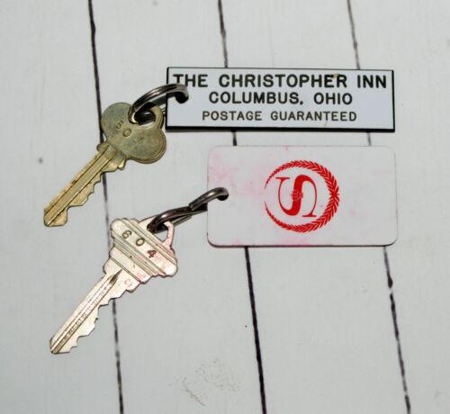 Vintage Hotel Room Keys Fobs Sheraton Christopher Inn Columbus Oh Both Room 604