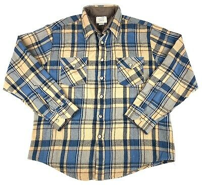 1970s Mens Shirt Styles – Vintage 70s Shirts for Guys Vintage 1960s 1970s Sears Roebuck Plaid Flannel Button Shirt Mens 16 - 16.5 $24.95 AT vintagedancer.com