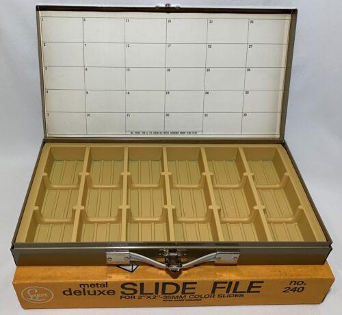 Logan Metal Deluxe Stackloader Group Slide File No. 240 Holds 756 Slides - $24.99