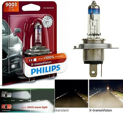 Philips Xtreme Vision Moto H4 130/% More Light Motorcycle Headlight Bulb Single