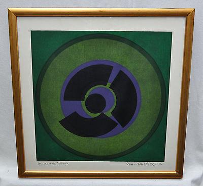 Hans-Albert Walter - abstrakte Kompostion 1970 - Handdruck, Probe - signiert