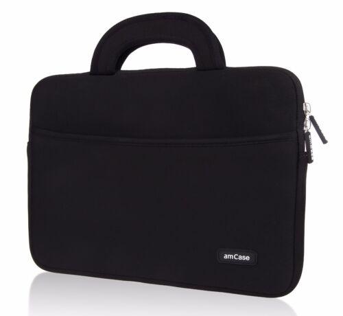 "Chromebook Case (11.6""-12"") amCase Protective Neoprene Laptop Sleeve/Bag (Black)"