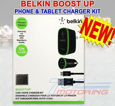 BELKIN BOOST UP 2.4-Amp CHARGING KIT WITH 4-FOOT MICRO USB CABLE F8M895tt04-BLKP