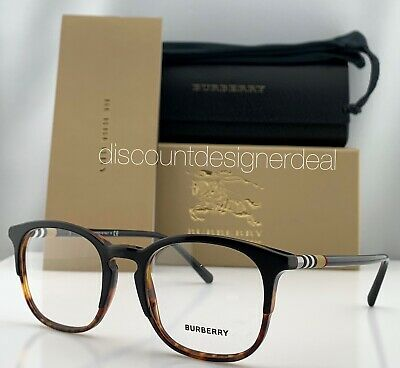 BURBERRY Optical Frames B2272 Two Tone Black Tortoise 3721 Eyeglasses 51mm (Burberry Glasses Frames For Men)
