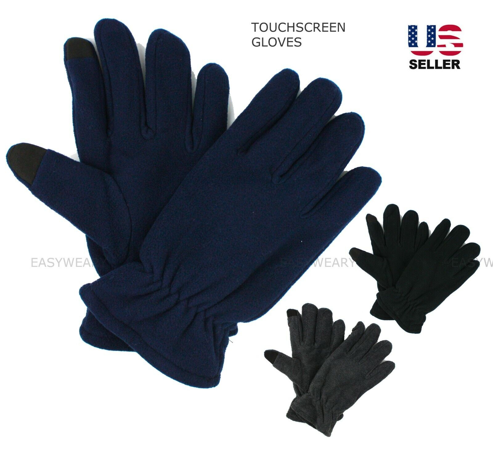 Mens Womens Winter Thermal Fleece Gloves Touchscreen Mittens Warm Soft Ski Snow Clothing, Shoes & Accessories