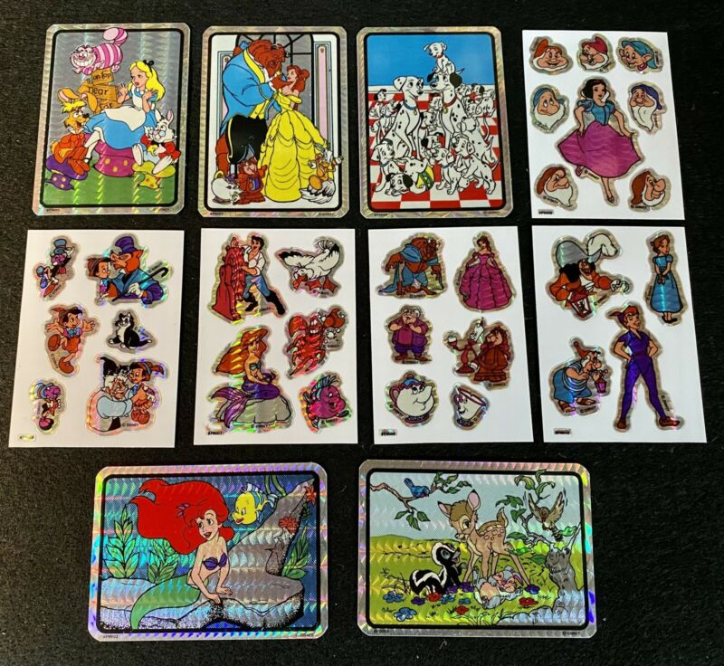 Vintage Disney Prism Vending Machine Sticker collection