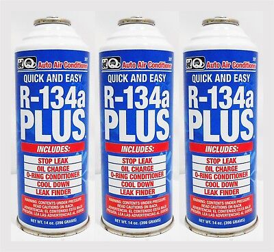 R134A Plus 14oz 3-Pack Refrigerant, PAG oil, Stop Leak, Dye Interdynamics #307 for sale  Memphis