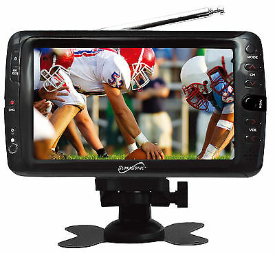 "SUPERSONIC 7"" PORTABLE TV AVI MOVIE MP3 PLAYER W/ USB SD CARD REMOTE"