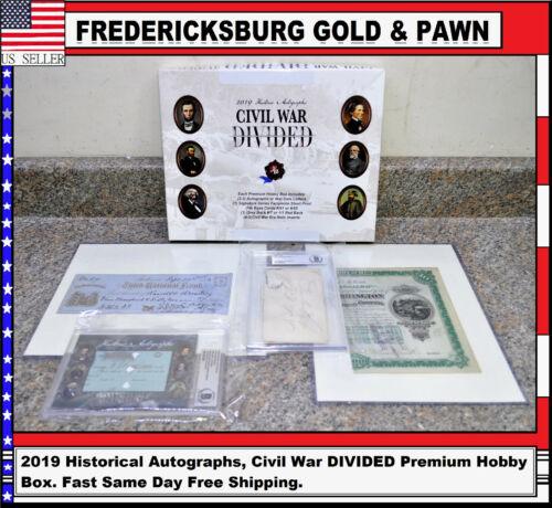 2019 Historical Autographs, Civil War DIVIDED Premium Hobby Box. Noble, Landram
