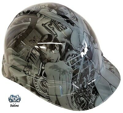 Hydro Dipped Hard Hat High Gloss Light Grey Wonder Women 6 Point Harness