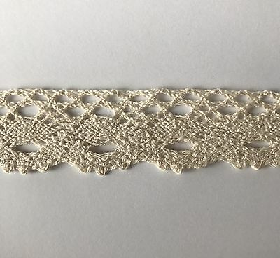 5 Yds Vintage Style Cotton Crochet Trim Lace Edge Trim Craft Off White Ivory 9v