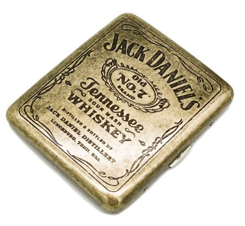 Vintage Golden Cigarette Case Classic Metallic Double Sided King Antique Brass