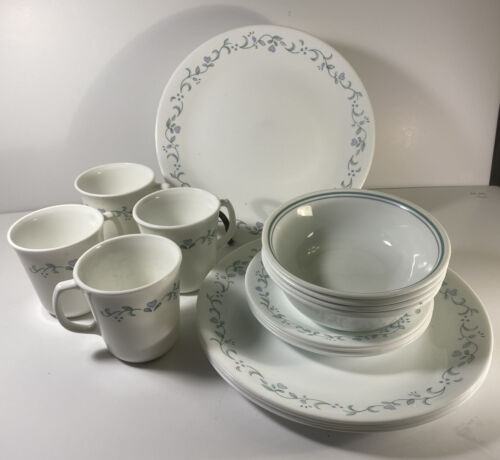 Corelle Country Cottage Dinnerware Set Service For 4