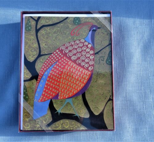 Metropolitan Museum of Art Christmas Cards ~ Peace and Joy ~ Partridge NIB