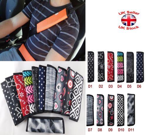 Car and Pram Safety SEAT BELT STRAP Shoulder Cover Harness Pad Pads 11 Designs