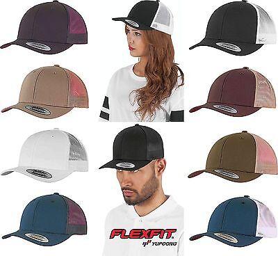 Flexfit by Yupoong Snapback Trucker RETRO Cap Cappy Kappe Mütze Mesh Foam