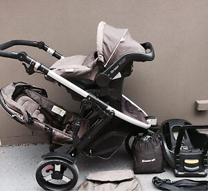 DOUBLE Steelcraft STRIDER PLUS Stroller & Car Capsule Southport Gold Coast City Preview