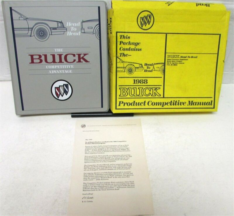 1988 Buick Competitive Product Manual Comparisons Technical Specs Dimensions NIB