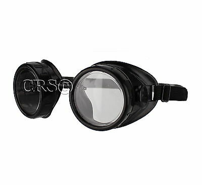 Titus Aviation Biker Motorcycle Goggles Safety Glasses DOT ANSI Z87 Clear Lens](Aviator Goggles)