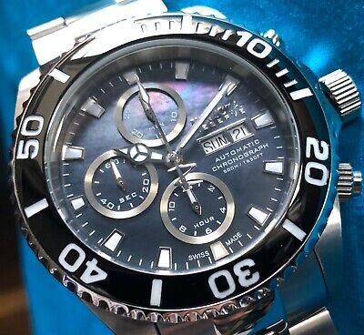 Invicta Reserve Pro Diver Swiss Made Valjoux 7750 Chronograph/Black MOP/Bracelet