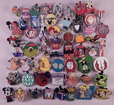 Disney Pin Trading Lot of 30 Assorted Collectible Pins - No Doubles - TRADABLE
