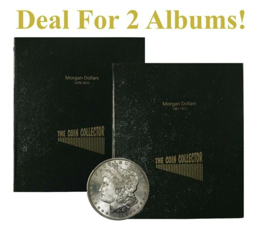 Lot Of 2 Albums For US Morgan Dollars Coin Collection 1878 1921 Not Dansco Gift
