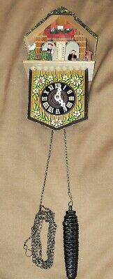 Vintage German Thermometer Cuckoo Clock Style House Boy & Girl