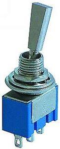 10x Mini-Kippschalter EIN/AUS/EIN (Nr.121) breiter Schalthebel