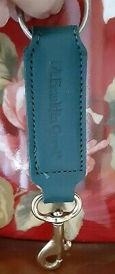 Franklin Covey Quest Vintage Rare New Condition Teal Leather Keyfob